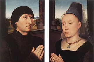 Pendant portraits of the mayor of Bruges Willem Moreel and his wife Barbara van Vlaendenbergh, originally parts of a triptych