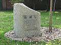 Memorial stone at Calvary in Katowice Panewniki 2010.jpg