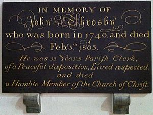 John Throsby - Memorial to John Throsby in Leicester Cathedral