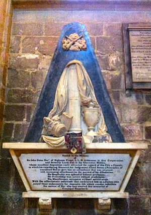 Guise baronets - Mural monument to Sir John Guise, 1st Baronet (1733–1794), of Highnam, in Gloucester Cathedral