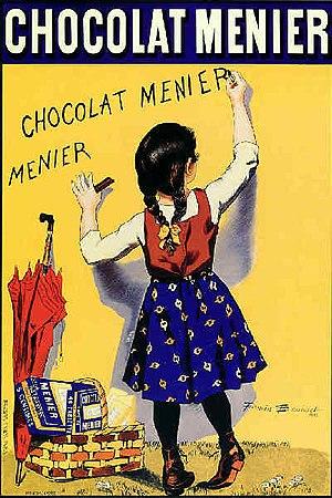 Menier family - 1893 poster by Firmin Bouisset