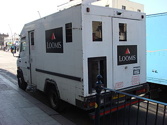 Loomis (company) - A Loomis-owned Mercedes-Benz T2 armoured vehicle in London, United Kingdom.