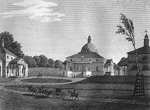 Mereworth Castle - Mereworth by Paul Amsinck, engraved by Letitia Byrne, 1809.