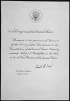 Message of President Gerald R. Ford nominating Nelson A. Rockefeller to be Vice President of the United States, 08-20-19 - NARA - 306372