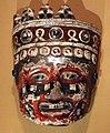 Messico, aztechi, maschera ceramica policroma di divinità, forse tezcatlipoca, 1350-1521.jpg