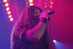 Chuck Billy dal vivo con i Testament al Metalmania 2007