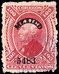 Mexico 1881 100c used Sc122.jpg