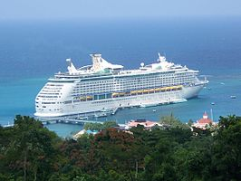 Cruiseschip in Ocho Rios