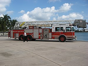 Miami Fire-Rescue Department - Fire truck
