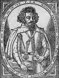 Michael Praetorius German composer, organist, and music theorist (c1571-1621)