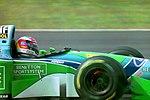 Michael Schumacher - Benetton 194 at the 1994 British Grand Prix (32541379235).jpg
