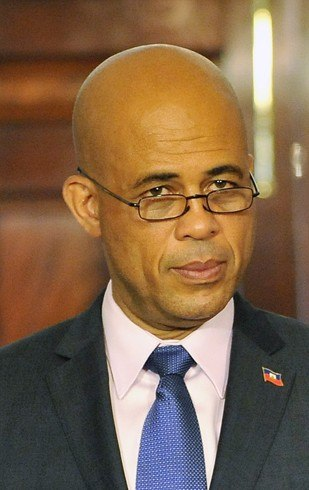 Michel Martelly on April 20, 2011