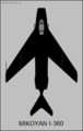 Mikoyan-Gurevich I-360 top-view silhouette.png