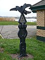 Milepost at a National Cycle Network junction - geograph.org.uk - 666379.jpg