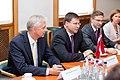 Ministru prezidents V.Dombrovskis tiekas ar Eiropas Parlamenta Rūpniecības, pētniecības un enerģētikas komitejas deputātiem un Eiropas Elektronisko sakaru regulatoru iestādes (BEREC) vadību (7886166416).jpg