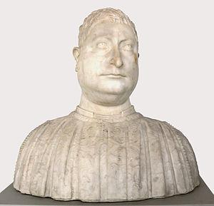 Strozzi family - Niccolò Strozzi (portrait bust by Mino da Fiesole, 1454)