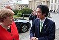 Minoru Kiuchi with German Chancellor Angela Merkel at the 70th anniversary of Germany's Basic Law, May 2019.jpg
