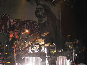 "Punk rock - The Misfits developed a ""horror punk"" style in New Jersey."