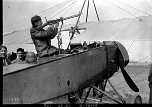 Aviation in World War I - Early attempt on a French Morane-Saulnier L to mount a forward-firing gun