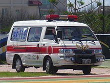 Mitsubishi Delica ambulance E6-5821 of Fire Bureau, Penghu County Government 20110608.jpg