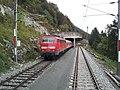 Mittenwaldbahn Ausweiche Martinswand 2012-09-30.jpg