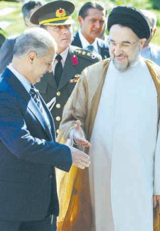Ahmet Necdet Sezer - In Tehran with Mohammad Khatami