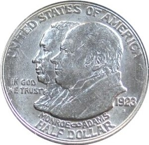 Chester Beach - Image: Monroe doctrine centennial half dollar commemorative obverse