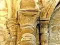 Montgeroult (95), église Notre-Dame-de-l'Assomption, croisillon nord et chapelle latérale, chapiteaux du doubleau intermédiaire, côté nord.JPG