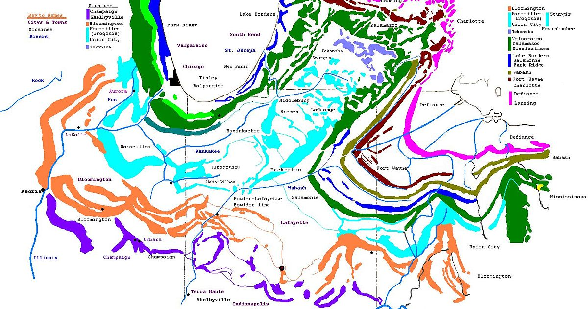 Moraine Ohio Map.Fort Wayne Moraine Wikipedia