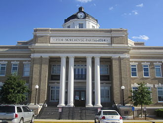 National Register of Historic Places listings in Morehouse Parish, Louisiana - Image: Morehouse Parish Courthouse, Bastrop, LA IMG 2803