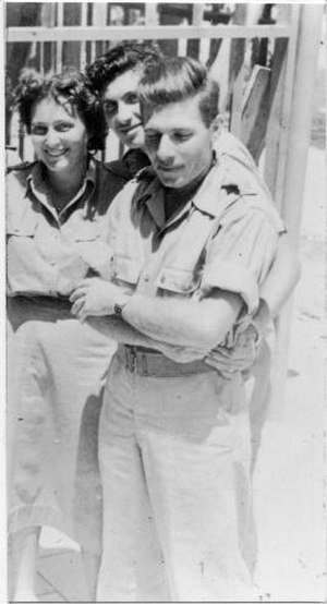 "Moshe Kelman - Moshe Kalman Yiftach Brigade 3rd Battalion commander, ""The Wolf"".From Palmach archive"
