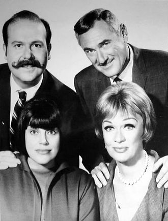The Mothers-in-Law - The parents, clockwise: Roger Buell, Herb Hubbard, Eve Hubbard, and Kaye Ballard