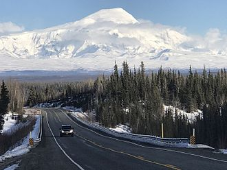 Mount Sanford (Alaska) - Mount Sandford from Tok Cutoff highway