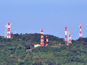 Digital terrestrial television - DTT transmitters located at Mount Zhentou in Tainan, Taiwan