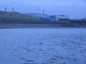 Thermal Oxide Reprocessing Plant - The THORP building at the mouth of the rivers Calder and Ehen