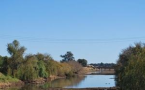 Mulwala Canal - The Mulwala Canal immediately upstream from its intake from Lake Mulwala in Mulwala