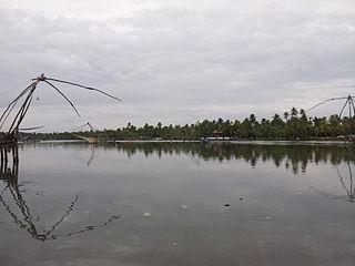 Munambam Town in Kerala, India