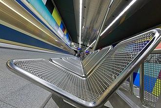 Dutch angle - A subway platform shot using Dutch angle