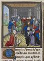 Murder of Simon Sudbury - Froissart, Chroniques de France et d'Angleterre, Book II (c.1460-1480), f.172 - BL Royal MS 18 E I.jpg