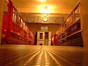 Glasgow Museum of Transport - Accurate full-scale recreation of a pre-1977 Glasgow Subway station, featuring salvaged items from the former Merkland Street subway station (Kelvin Hall)