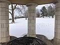 Muskogee snowstorm 2021-02-15 Turner Hill Park gazebo S.jpg