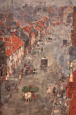 John Quinton Pringle - Muslin Street, Bridgeton, Glasgow by John Quinton Pringle (detail)