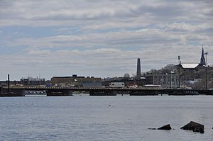 Wynn Boston Harbor - Image: Mystic River Alford Street Bridge