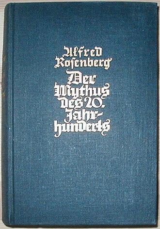 Alfred Rosenberg - Der Mythus des 20. Jahrhunderts. 1939 edition