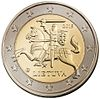 National side of a Lithuanian 2€ coin
