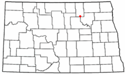Location of Maza, North Dakota