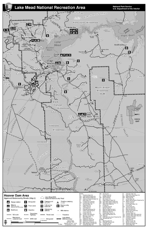 Filenps Lake Mead Backcountry Hoover Dam Mappdf Wikimedia Commons - Hoover-dam-on-us-map