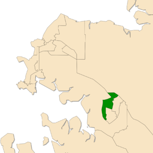 Electoral division of Drysdale - Location of Drysdale in the Darwin/Palmerston area