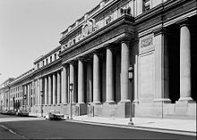 South facade of Pennsylvania Station showing multiple columns