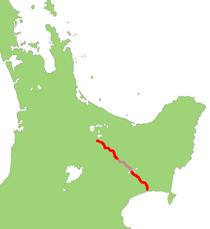 New Zealand State Highway 38 - Image: NZ SH38 map